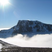 Ben Nevis in winter on a wonderful day